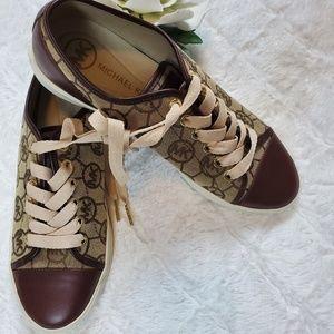 NWOB Michael Kors City Side  Brown Sneakers